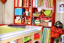 Sewing Room Ideas / Need ideas for the super sewing room? Find all sorts of ideas here for planning your dream space.