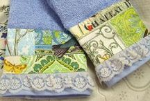 Sweet Hand Towels / Decorated Hand Towels with designer Fabrics