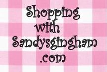 Shopping with Sandysgingham / Shopping and Selling with my own Store through Ecrater! A great way to sell!