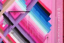 Arty Graffiti Walls / Colourful graffiti wall street art