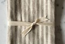Linen Hand/Tea Towels | Made in Canada / 100% linen towels hand-made in Vancouver, BC
