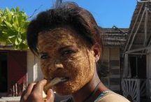 vezo, madagascar / volti e abitudini delle persone della etnia Vezo, costa sud-occidentale del Madagascar