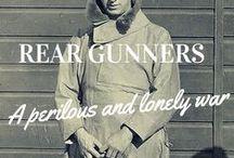 Rear Gunners WWII / Rear gunners.  Wellington bomber.