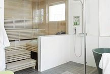 Kylpyhuone ja sauna / Ideoita tulevaan kylpyhuoneeseen ja saunaan.