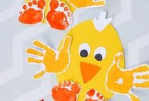 Hand and Footprint Art / Hand and footprint fun creative ideas for kids.