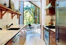Slick + Kitchen = Delish / Look at the deliciously designed kitchens!
