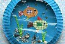 Ocean art for preschoolers / by María Gallo