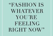 Famous Words of Fashion / FASHION WORDS