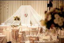 Dekoracja Wesela - Edan-Art / Nasze dekoracje sal weselnych, florystyka weselna, kwiaty na weselu, wesele, Olsztyn, Mrągowo, Edan-Art