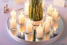 Dekoracja światłem świec / Światło świec na uroczystościach, weselach, bankietach - pomysły.