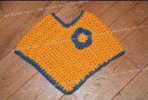 Gehaakte poncho's voor baby en kind / Poncho's worden gehaakt in de kleuren die jij mooi vindt en vanaf maat 50 tot 128. Wil je een dunne poncho? of juist een dikkere? het kan bij http://www.vanmijaanjou.nl/
