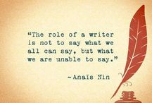 Inspiration for writing and creating
