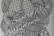 Zentangle inspired / My own Zentangle Inspired drawings and drawings of other who inspire me.