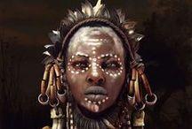Têtes humaines (Afrique)