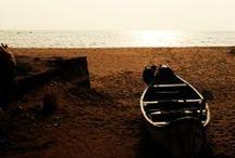 Thottada Beach, Kerala (India) / One of the quietest beaches in Kerala. Beautiful 800 meter sandy stretch of magic. #travel #tourism #beaches #destinations #Kerala #India