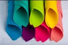 Woolfelt from HOLLANDFELT / Dyed colours, natural colours and mixed colours in 5 thicknesses