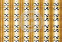 Golden pattern and background