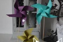 Moulins à vent - décoration mariage baptême baby shower / Moulins à vent - décoration mariage baptême baby shower chambre d'enfant