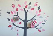 Décoration chambre enfant fille bébé rose poudré et fuchsia / Décoration chambre enfant fille bébé rose poudré et fuchsia