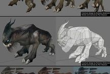 References: 3D_Not_Smooth_Videogame / Topology without Subpatch/Smoothing for videogames.