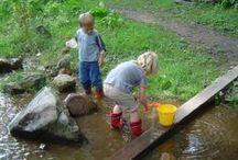 Tuin; waterspel / Spelen met water, hemelwaterafvoerregulatie