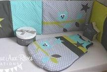 Décoration chambre enfant bébé vert anis gris turquoise - lime grey aqua nursery