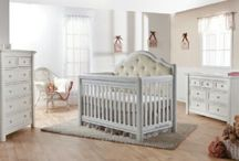 The Cristallo Collection / The Cristallo Collection. An example of elegance and distinction, featuring an upholstered headboard convertible crib. Coming in Spring 2015.  Available in Vintage White & Granite