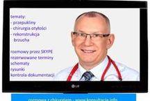 Gdzie konsultacje? Gdzie leczenie? / Specjalizuję się w leczeniu przepuklin (brzusznych, pachwinowych, pooperacyjnych), chirurgicznym leczeniu otyłości oraz plastyce brzucha.