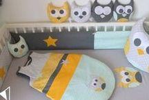 Décoration chambre bébé mint vert eau jaune gris