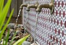 East London Family Garden Design / A family garden designand build in Walthamstow, East London. This client wanted a space for a small amount of vegetable growing but to be fairly low maintenance. A Moroccan twist, easy access to the office at the bottom of the garden as well as to incorporate the existing Koi Carp pond.  http://www.earthdesigns.co.uk/portfolio/moroccan-garden-in-walthamstow-east-london/