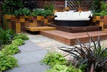 East London Terrace Garden Design / The garden is split into three distinct areas with separate purposes in mind. The client wished to entertain and relax in the garden as well as accomodate a bike store and create a space aligned with her interior