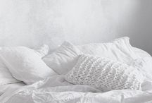 On the bed / Sur le lit / A favorite childhood memory is of a bed so big & cushy it felt like I was sleeping in the clouds. In my quest to return to that comfy place, I've gathered this collection of lovely bed linens, decorative pillows, throws, blankets, quilts and duvets. Peace...