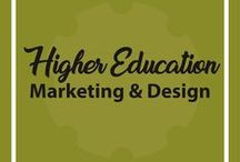 Higher Ed / Higher Ed marketing collateral, social media, brand, web design, and merchandise.