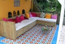Gartenhaus-Gestaltung & Terasse