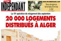 Le jeune indépendant / Quotidien généraliste algérien doyen de la presse privée en Algérie fondé le 28 mars 1990.