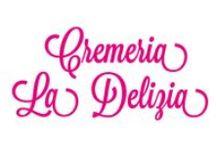 Design of Cremeria La Delizia / Logo, Branding. Neon sign. Web Site.