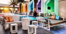 Matisse Beach Club / Working with Oldfield Knott Architects, Furniture Options manufactured custom Cabana Tables and Daybeds to create a Miami themed venue.