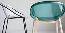 Bloom Tub Chair, Calligaris Italy / Polycarbonate shell on wooden or powder coated metal frame - Made in Italy - different stain colours and shell colour available