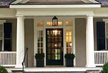 Home Decor: Porch / Front Door Ideas | How to pick the right front door | Front Porch ideas | Front door colors | Front door designs