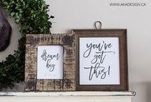 Printables / Beautiful Printables | Printable decor | beautiful printable decor ideas | beautiful fonts and signs | labels