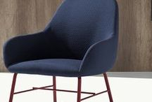 Myra - Metalmobil, Italy / Metalmobil presents the new collection of upholstered seats: Myra, designed by Emilio Nanni. Following the company's spirit, this family of upholstered seats testifies that idea of comfort that the products by Metalmobil ensure.