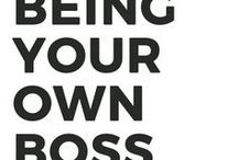 Be Your Own Boss / Work at home, financial freedom, entrepreneur, be your own boss, how to quit your job, business, make money from home tips, ideas to be your own boss.