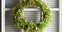 Wreathes / Wreath Ideas| Wreath inspiration| Big selection of wreath ideas and tips