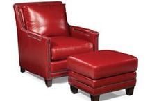 Leather Chairs & Ottomans / Leather club chairs and ottomans custom made for you in North Carolina. Leather chairs and ottomans in hundreds of leather colors.  Quality leather chairs shipped direct to you.