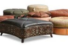 Leather Ottomans and Cocktail Ottomans / Custom made leather ottomans and leather cocktail ottomans made in America.  We ship worldwide and free delivery to the lower 48 states.