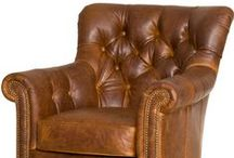 Leather Club Chairs & Leather Chairs / Leather club chairs and ottomans.  Handmade furniture from North Carolina.  Custom order or choose from our in stock leather furniture gallery.  Competitive pricing.