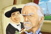 "Fernando Botero / ""Fernando Botero must number among the most famous painters alive.Even people unaware of his name know his manner of giving dough-boy features to everything in his paintings and sculpture,from people and animals to automobiles and fruit"".         from..     http://sfgate.com  / by F. M."