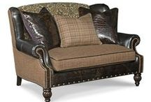 Settee Furniture / An assortment of American made leather settee's and upholstered settee furniture.  Fine furniture include these distinct furniture styles of settees and smaller leather sofas for your home.