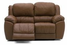 Leather Reclining Loveseat / Reclining furniture and leather reclining love seats.  Sofas and love seats that recline made to order in hundreds of colors of leather.  Custom leather furniture that ships direct from the furniture factory in North Carolina.