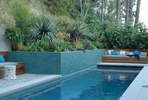 Pools - Outdoor living / Outdoor living in the summer should include a pool that is   beautifully landscaped with well thought architecture  complete with a barbecue.  An outdoor oasis  for family and friends.